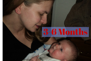 3-6 months mommy holding 4 month old baby