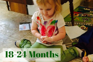 18-24 months, 19 month toddler writing