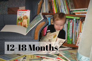12-18 months one year old loves reading books