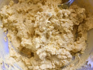 yolk mixture for deviled eggs will be creamy and slightly lumpy