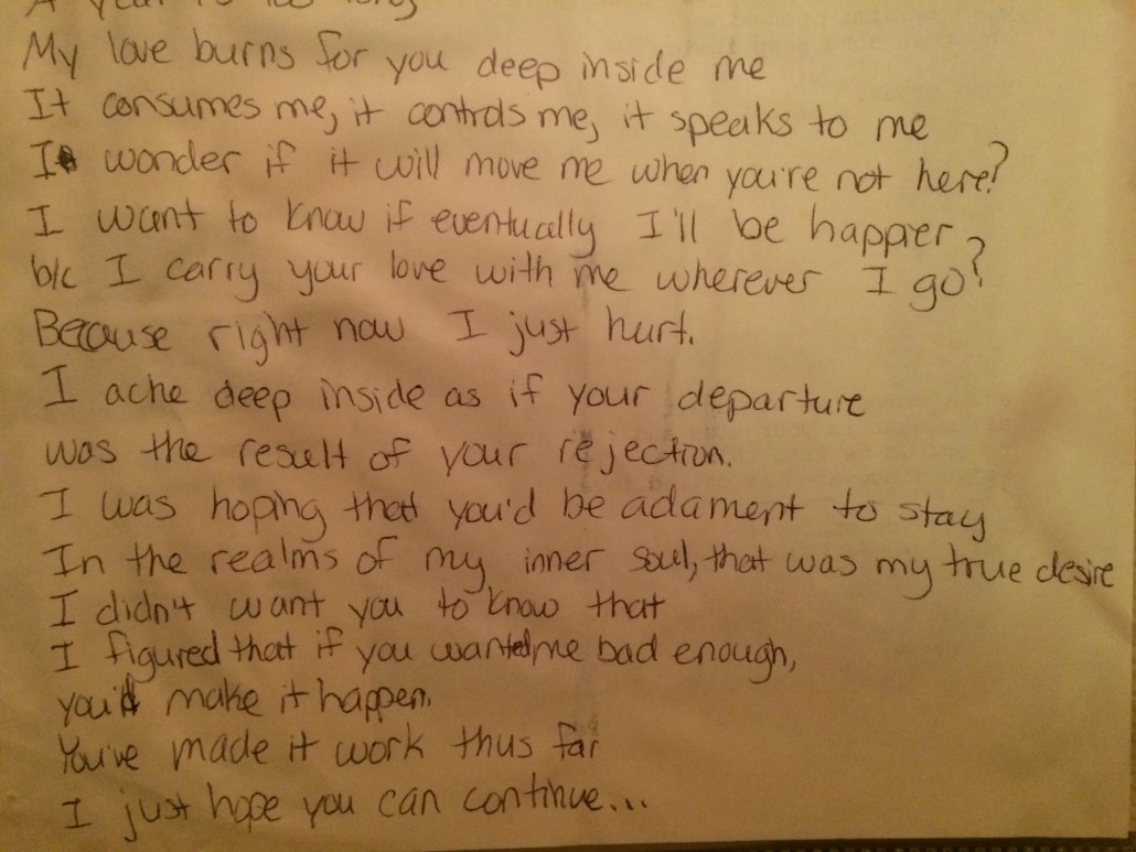 part two of a poem I wrote to my (now) husband when I first knew I loved him
