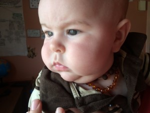 Julian Wearing an Amber Teething Necklace