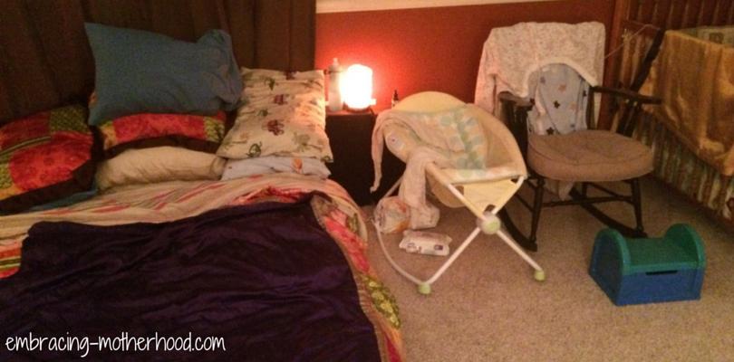 Our Bedroom is Set Up for Nursing