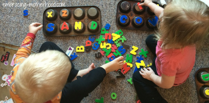 Using Magnet Letters to Teach the ABCs