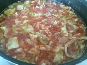 Cabbage Soup Simmering