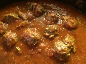 Meatballs in Spaghetti Sauce