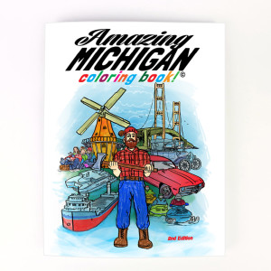 amazing michigan coloring book