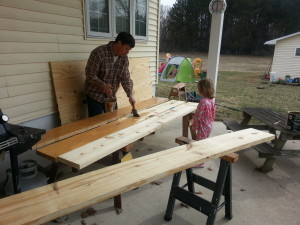 staining wood for sandbox