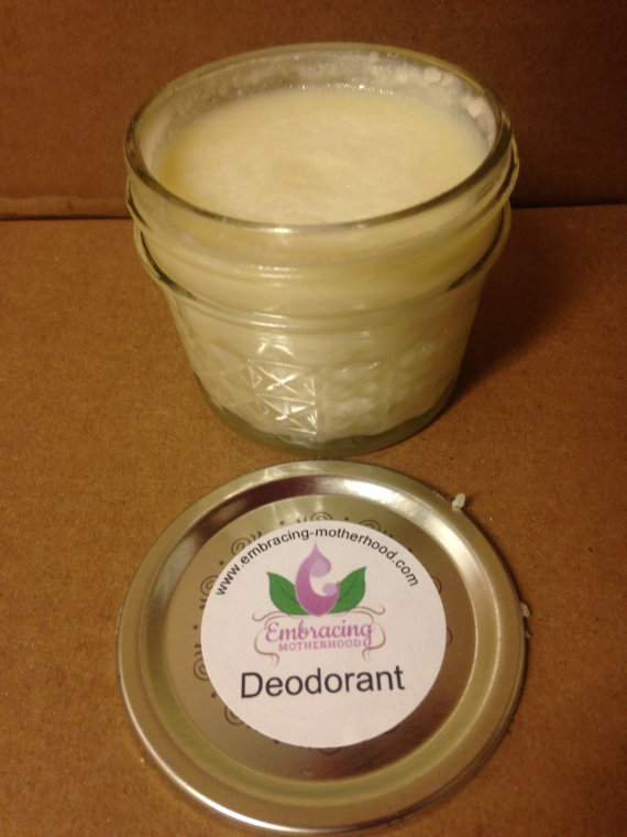 Deodorant in a Glass Jar