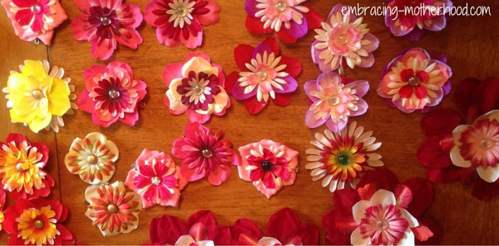 Embracing Motherhood How to Make Flower Hair Clips