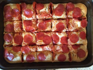 Rectangle Pepperoni Pizza