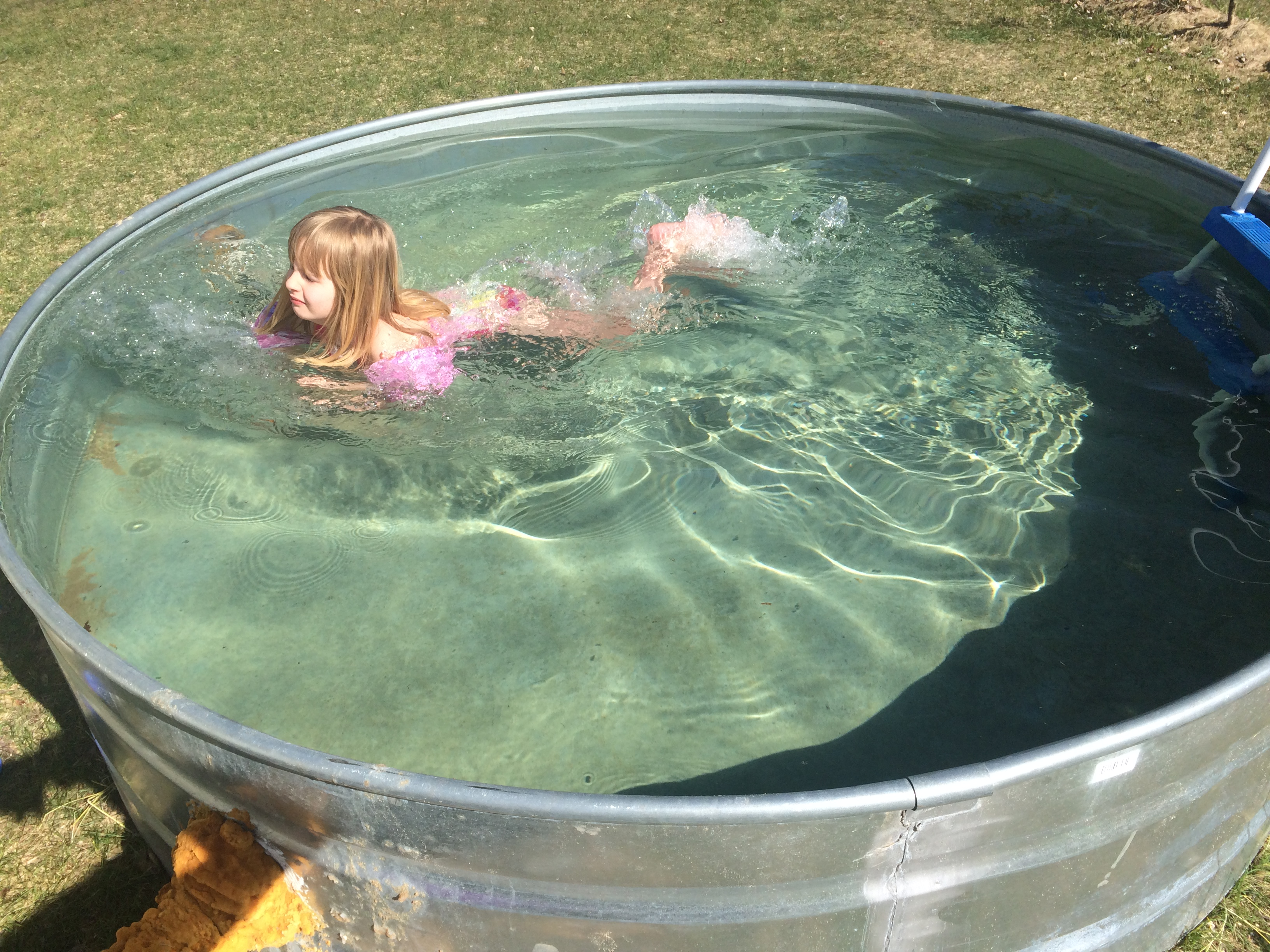 How to make a stock tank pool embracing motherhood for Fish stock tank