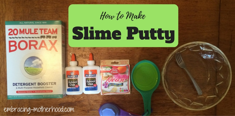 4 ingredient slime putty embracing motherhood 4 ingredient slime putty ccuart Gallery