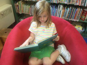 Ruby Reading at the Library