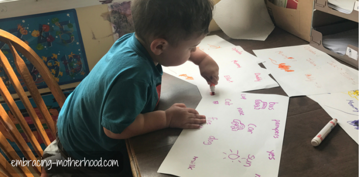 A Word Coloring Pre-Reading Activity