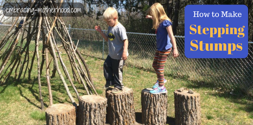 How to Make Stepping Stumps
