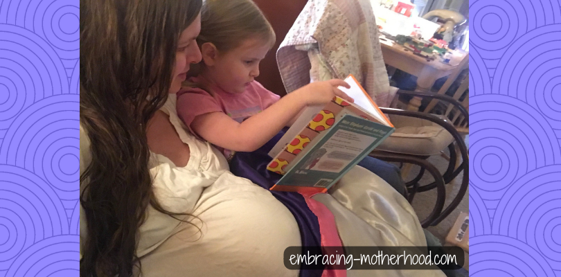 Reading to Ophelia While Pregnant for Jack