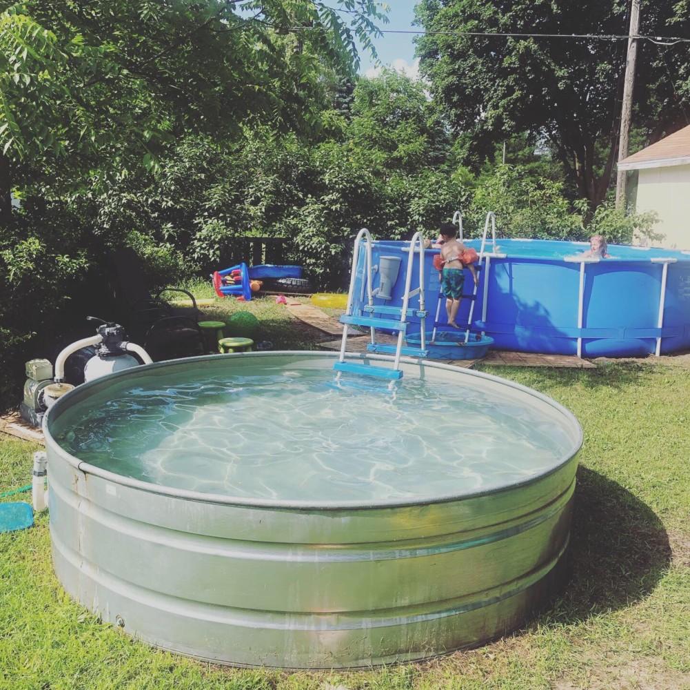 8 Foot Stock Tank Pool and 15 Foot Intex Pool Upgrade (2018)