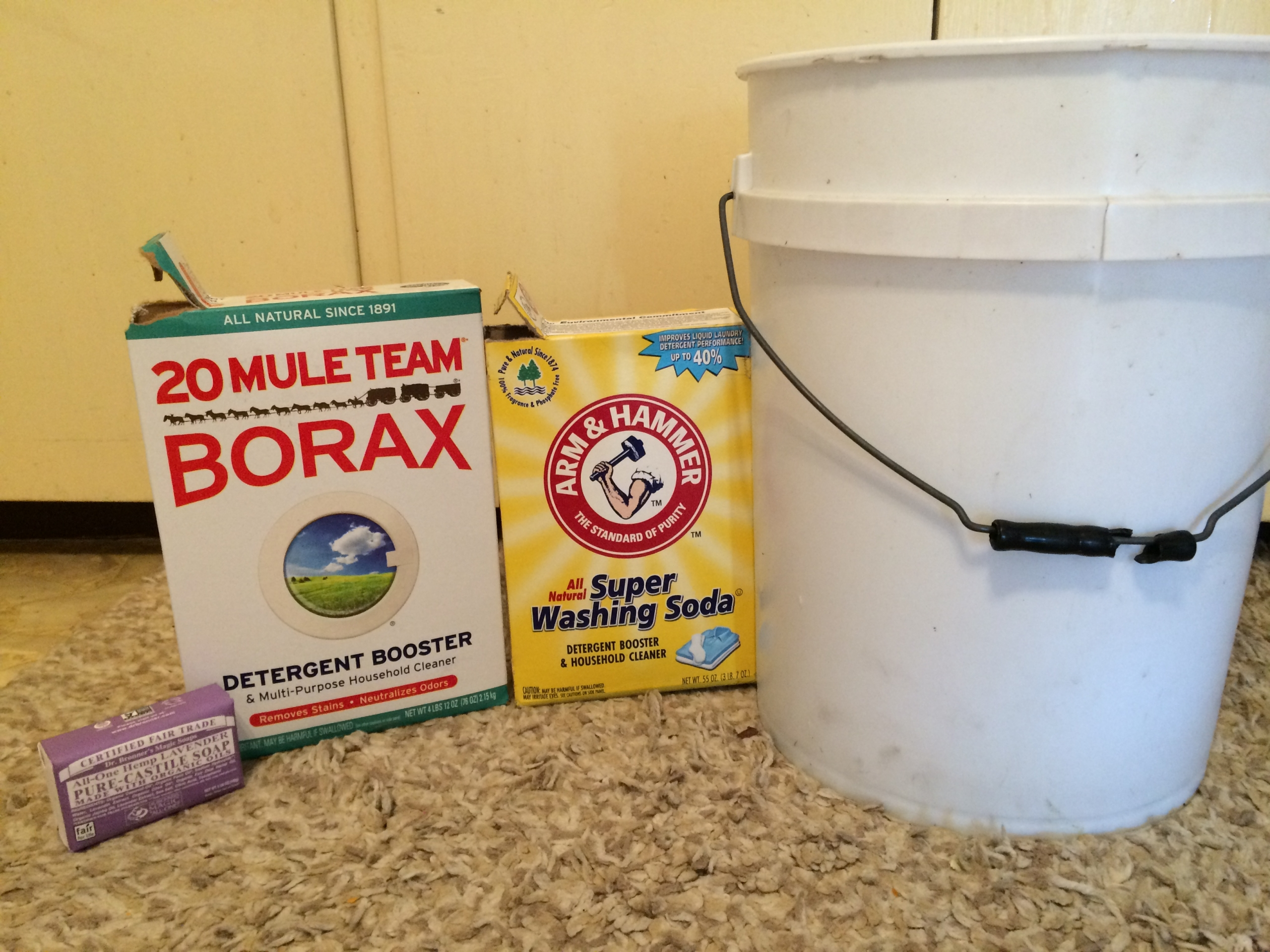 Ingredients for Laundry Soap