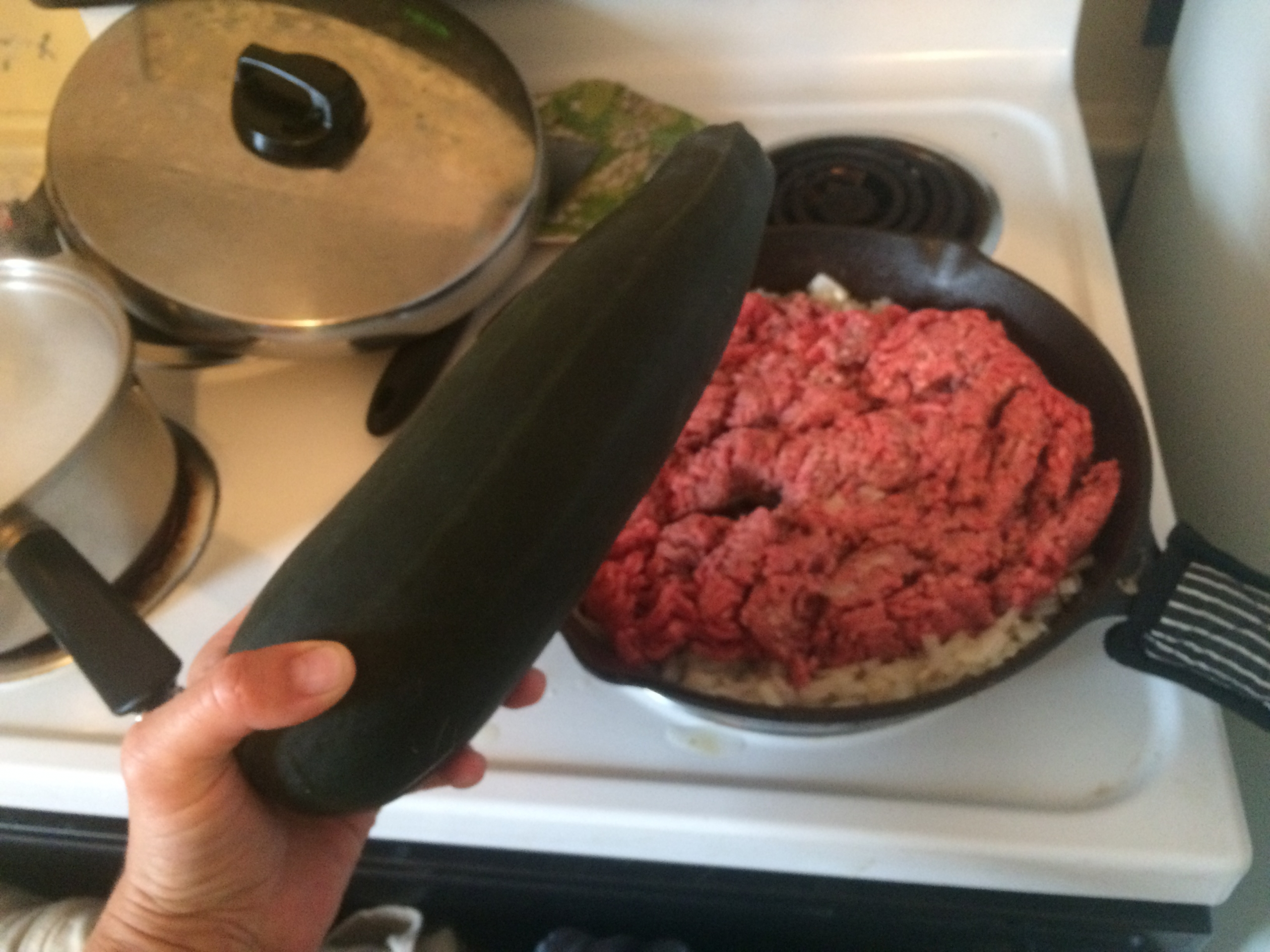 Browning the Beef