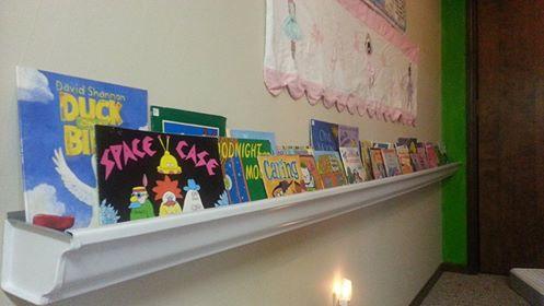 Using Gutters as a Bookshelf
