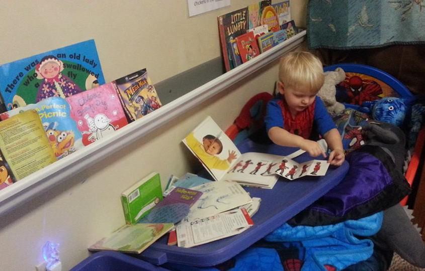 gutters as a bookshelf