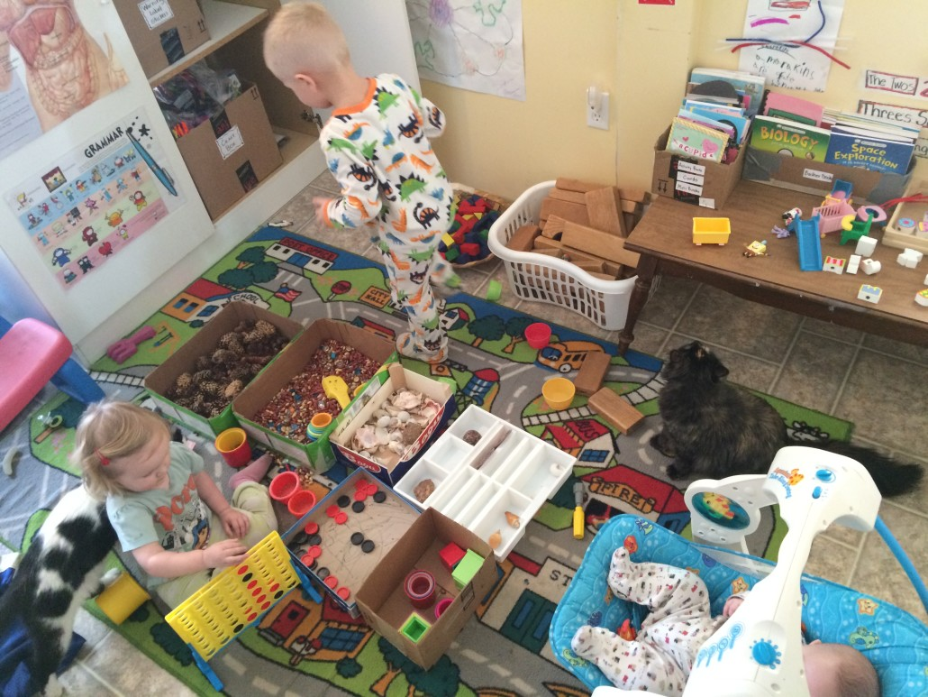 kids playing with creative manipulatives at a moments notice
