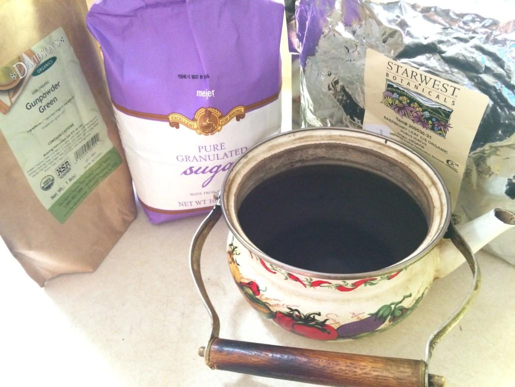 Ingredients for Kombucha