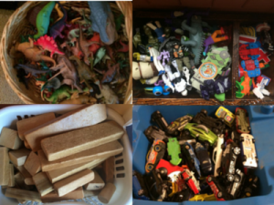 Organized Bins of Toys