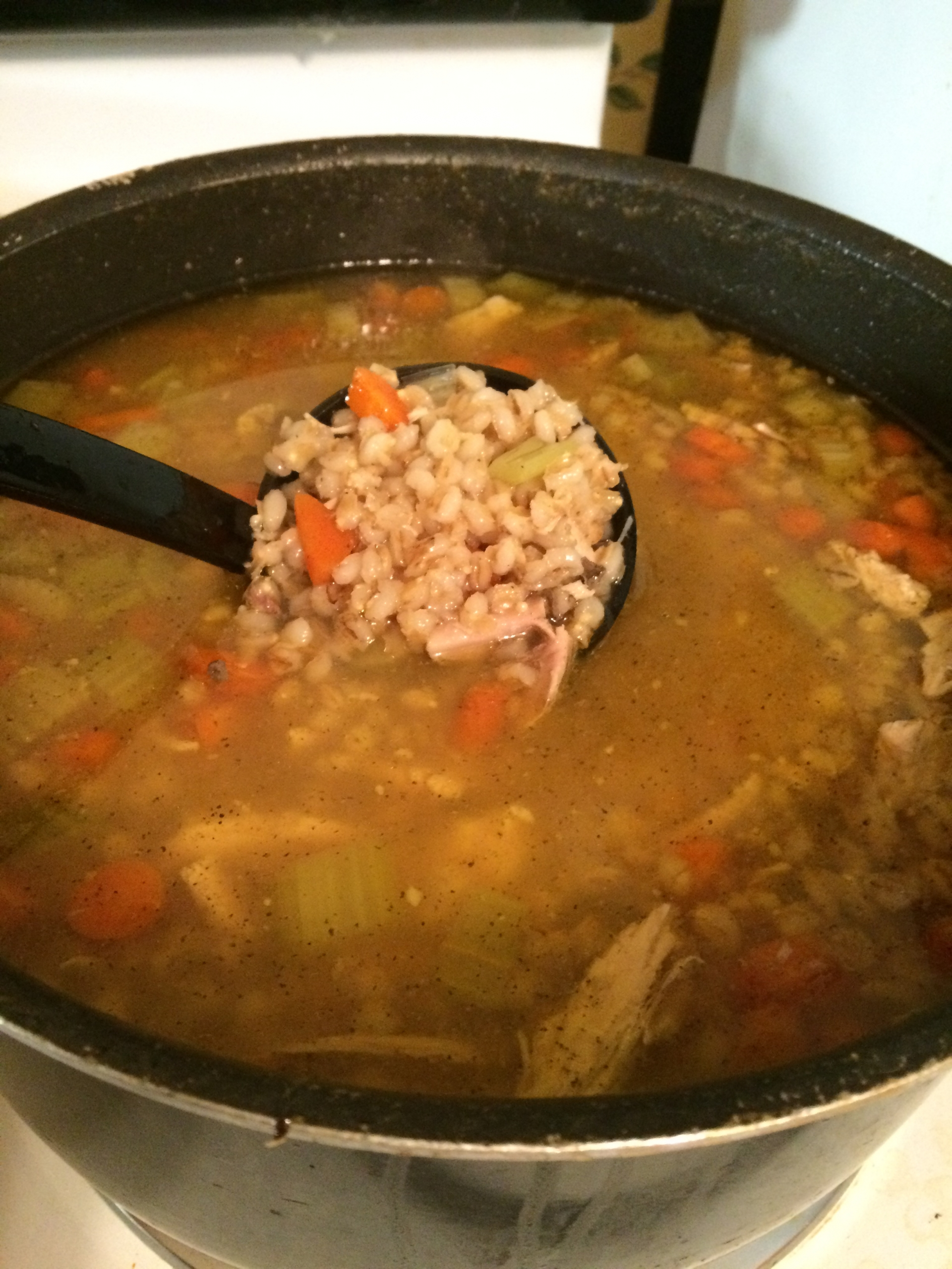 Barley Added to Chicken Soup