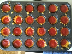 Cooked Mini Pizza Muffins