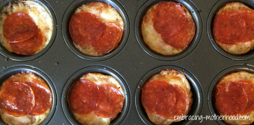 Embracing Motherhood Pizza Muffins