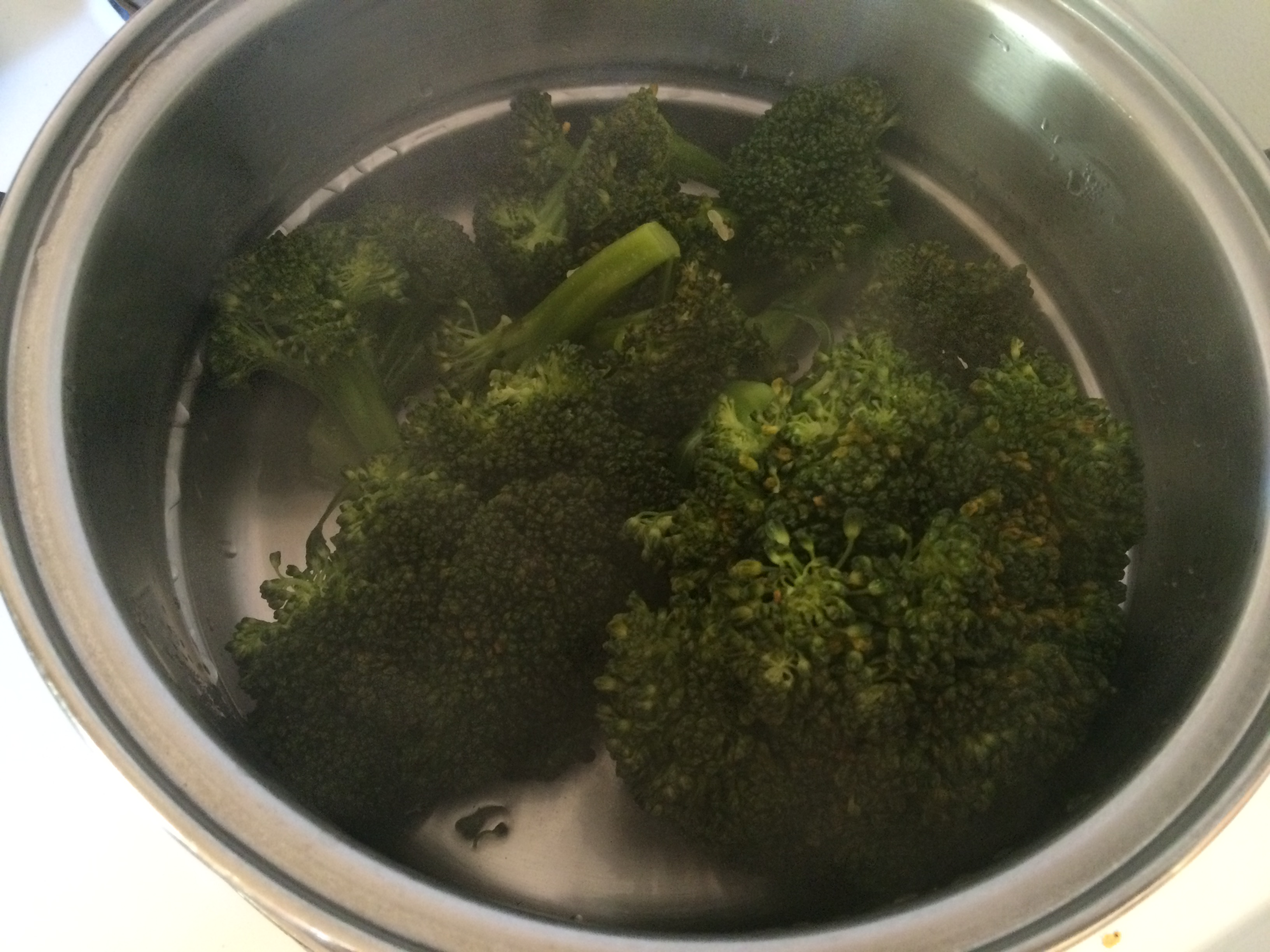 bright green and tender steamed broccoli cooked to perfection