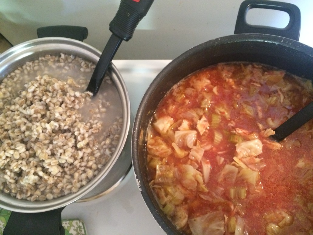 Serve the Barley on the Side with Cabbage Soup