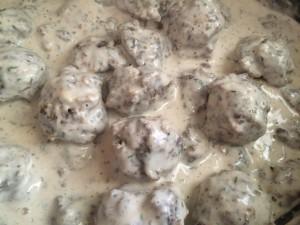 Meatballs in Stroganoff Sauce