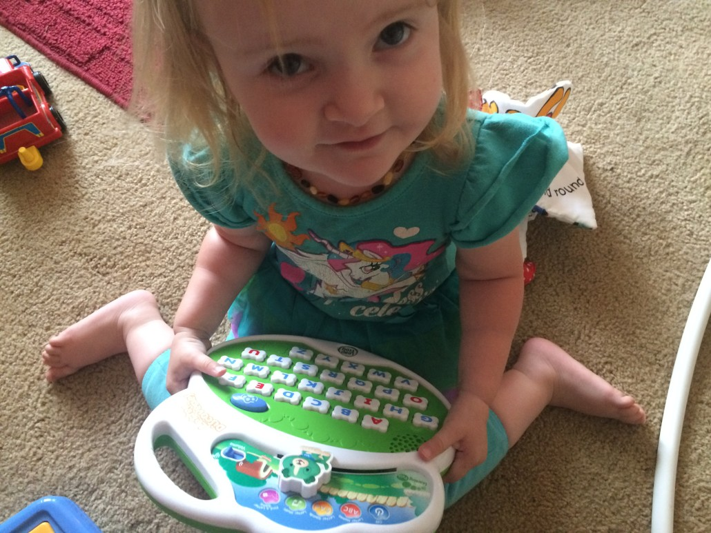 Ophelia Loves Learning Her ABCs using leapfrog abc games