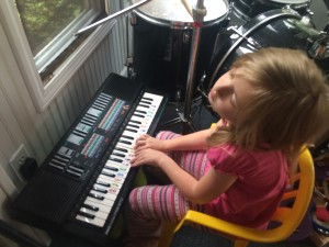Ruby Playing the Keyboard...and Feeling It!
