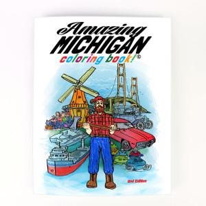 amazing michigan coloring book
