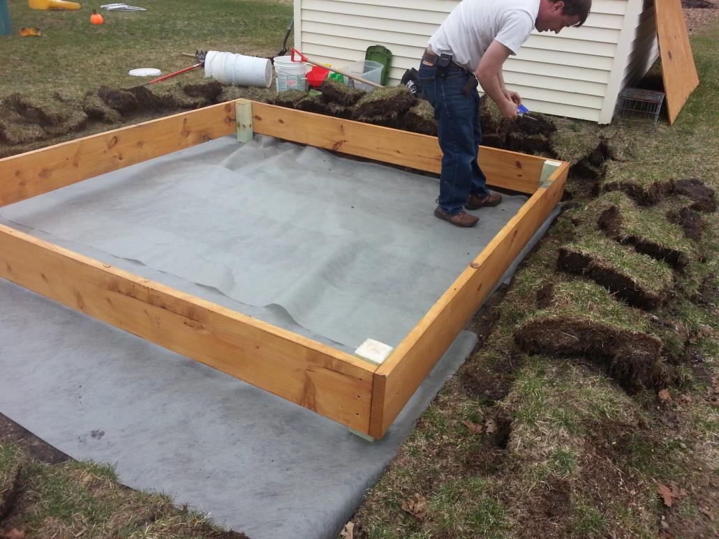 Laying Down the Sandbox Frame