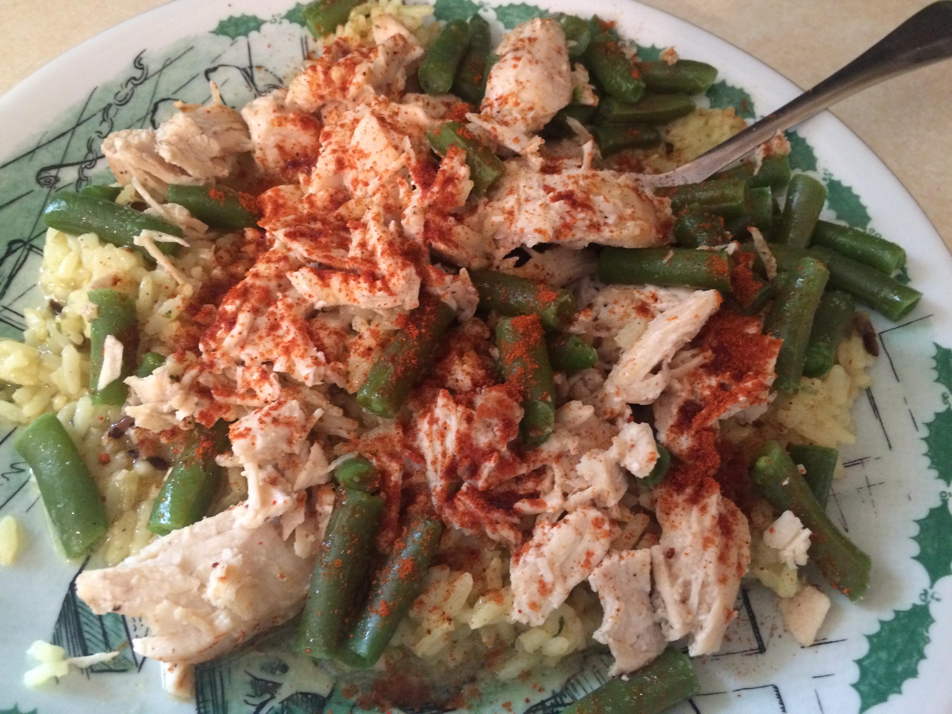 chicken rice beans cayenne