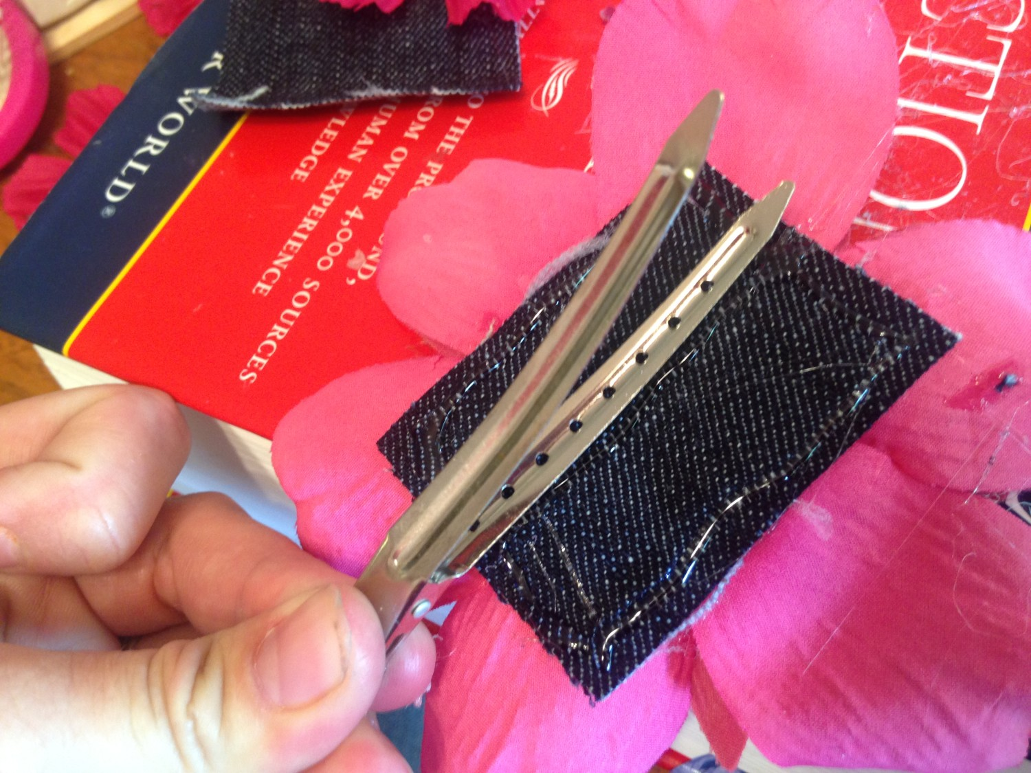 Keep the Clip Open as You Put on the Hot Glue Embracing Motherhood