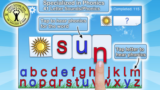 montessori crosswords app screen shot