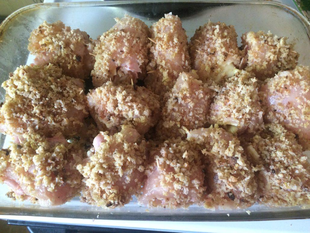 Ready to bake my chicken cordon bleu!