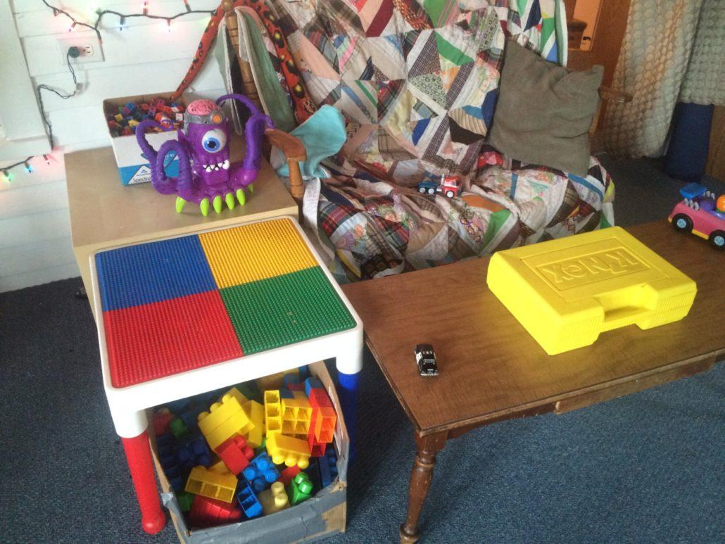 Big Legos, Kinex, and Unifix Cubes