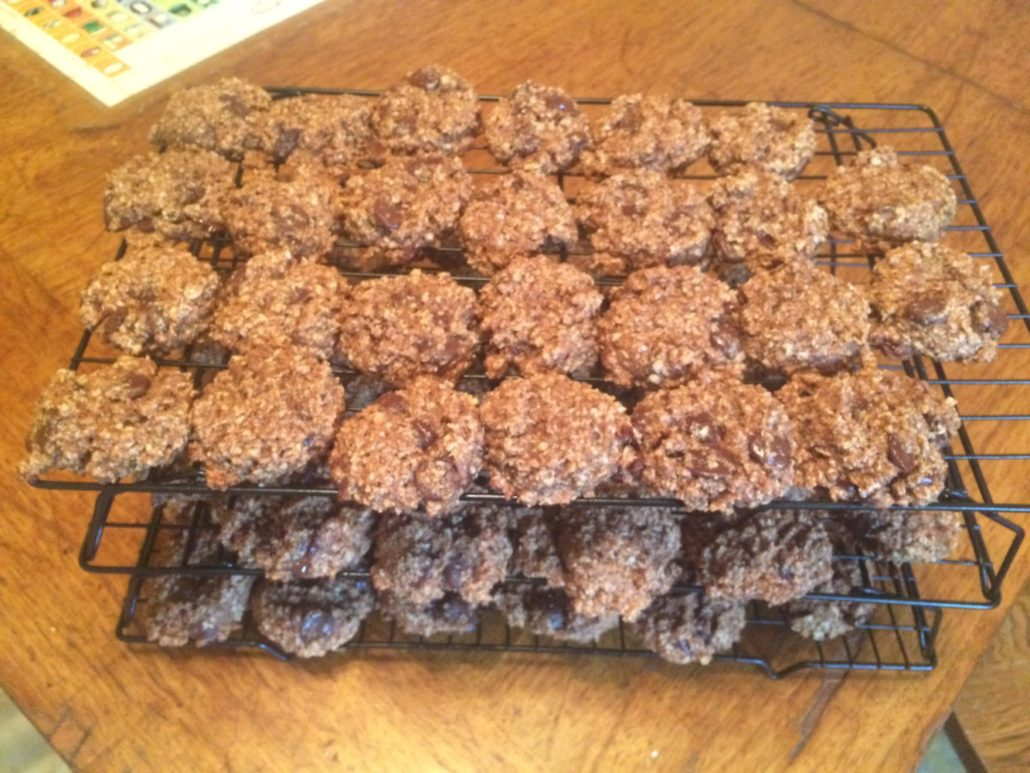 Oatmeal Cookies on a Cooling Rack