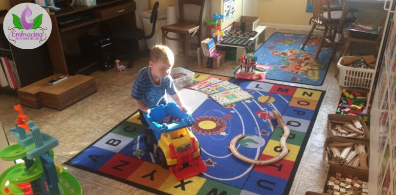 2 Year Old Julian Playing in Our Homeschool Room (I added this picture awhile after writing this blog.)