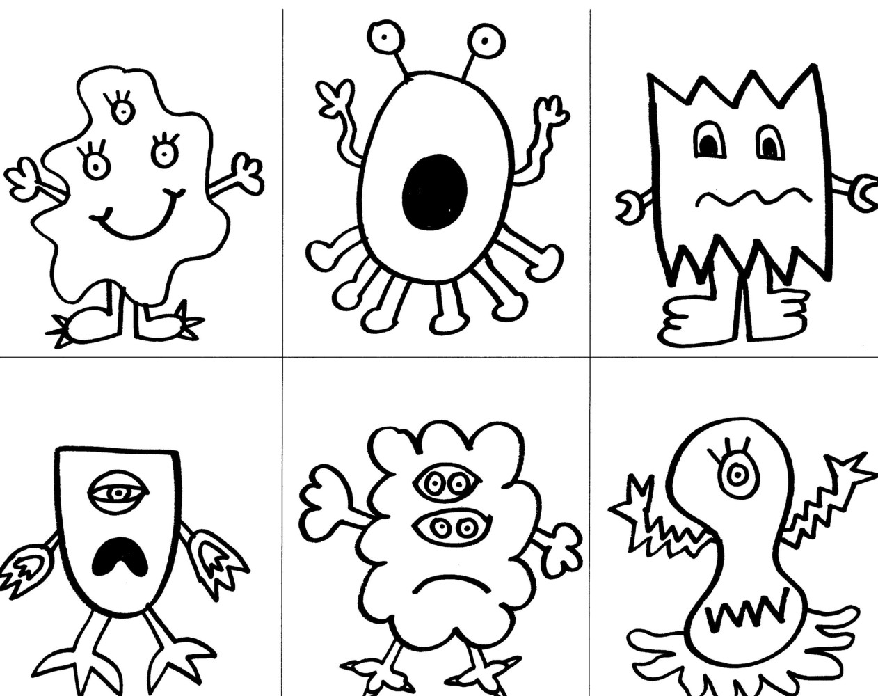 Completed Monsters Coloring Page