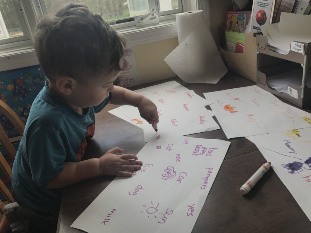 Julian Loves Coloring!