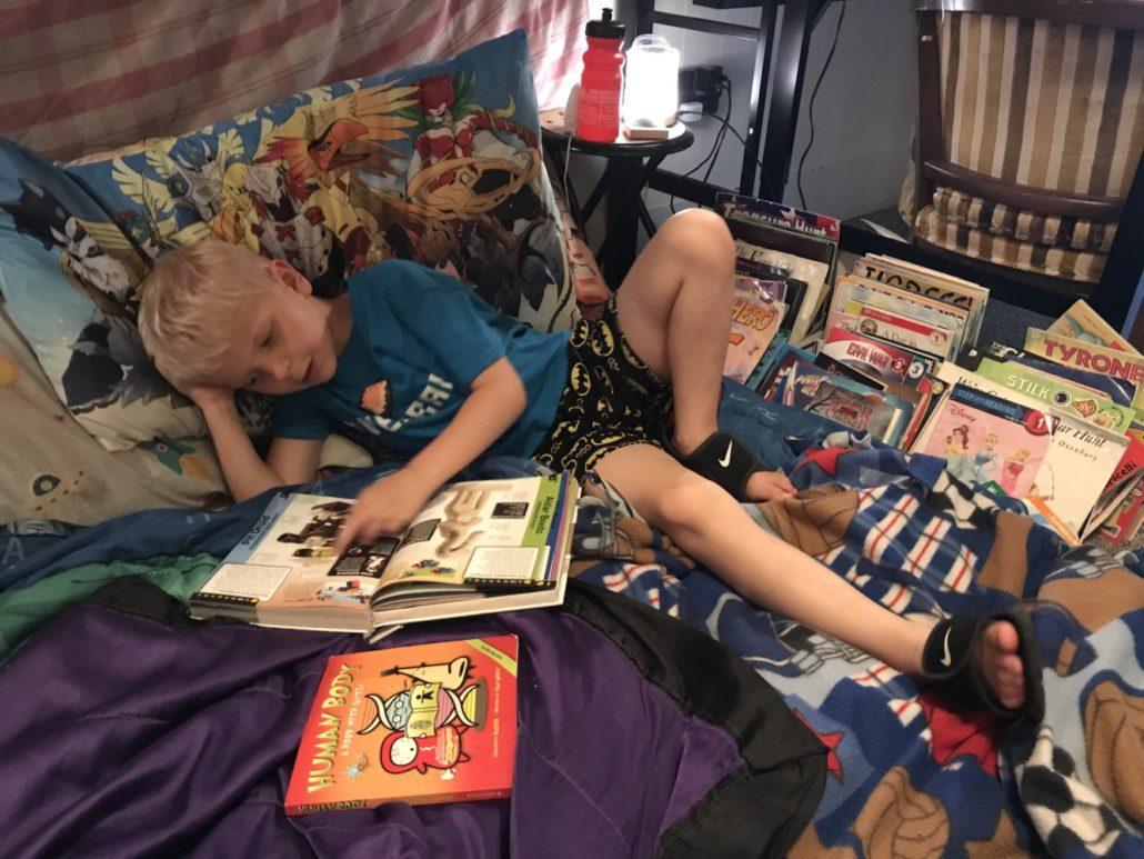 Elliot Loves Reading Nonfiction Books