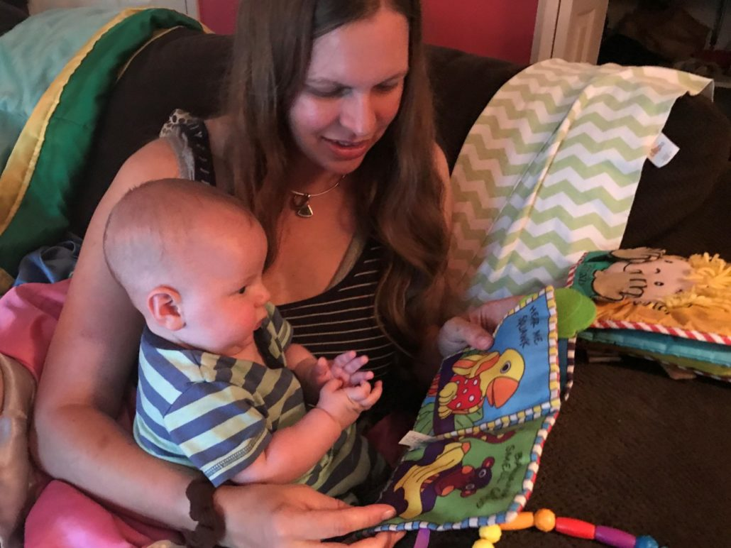 Reading with 3 Month Old Jack